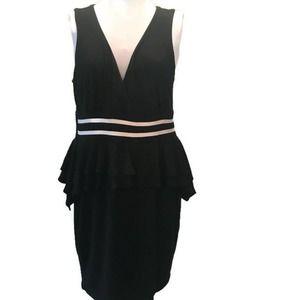 Forever 21 (Faith 21) Dress Black White Ruffle 2X